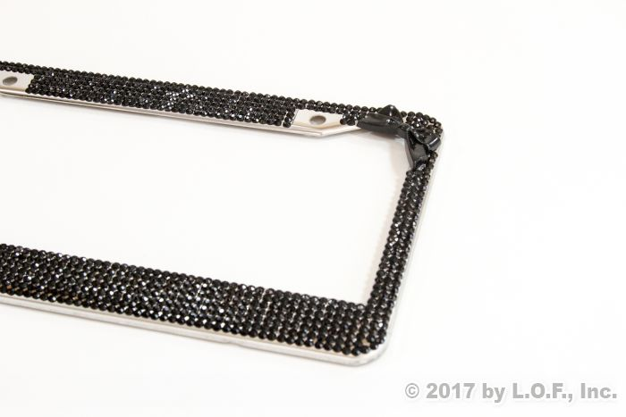 Black Bow Tie Bling Crystal RhineStone License Plate Frame Car Truck ...